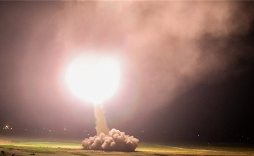 Iran fires ballistic missile. Photo Credit: Fars News Agency.