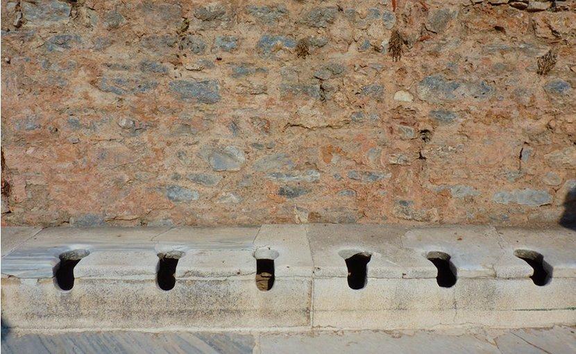 Ancient Greek latrines.