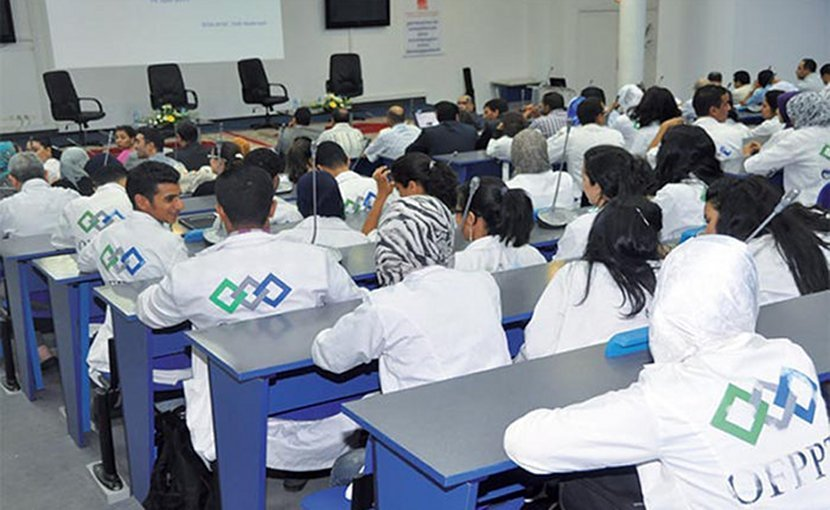 Vocational training in Morocco.