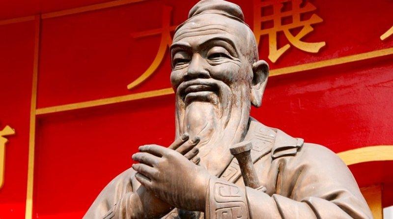 Statue of Confucius in China.