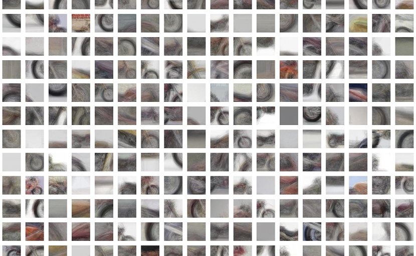 A 'computer vision' system developed at UCLA can identify objects based on only partial glimpses, like by using these photo snippets of a motorcycle. Credit UCLA Samueli