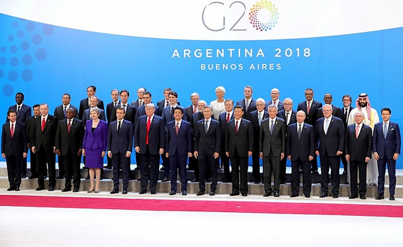 G20 summit participants in Argentina. Photo Credit: Kremlin.ru