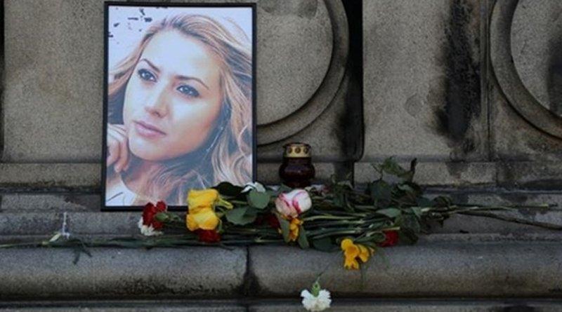 Memorial for slain journalist Viktoria Marinova. Photo Credit: Fars News Agency.