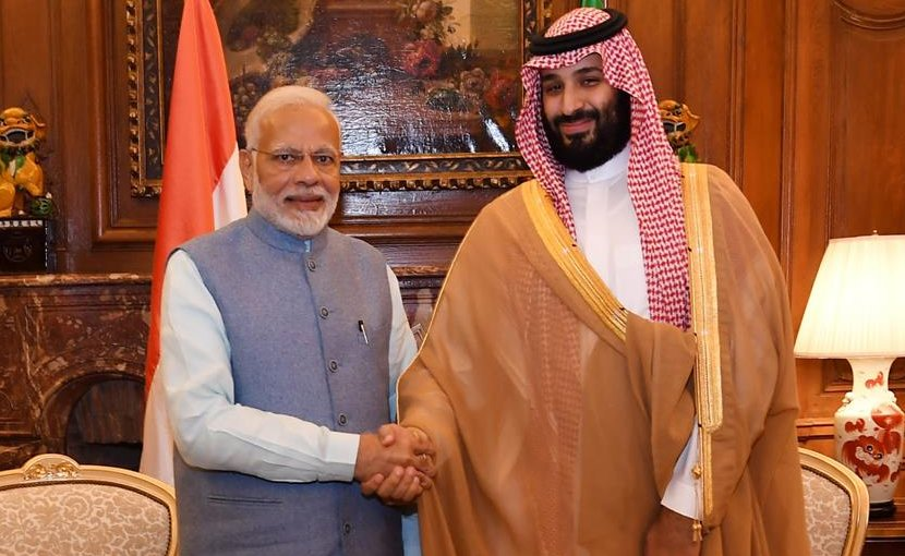 India's Prime Minister, Shri Narendra Modi meeting the Crown Prince of Saudi Arabia, Mohammed bin Salman Al Saud, on the sidelines of G20 Summit, in Buenos Aires, Argentina. Photo Credit: India PM Office