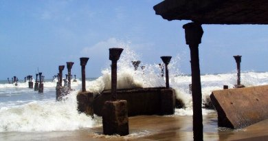 waves beach india ocean
