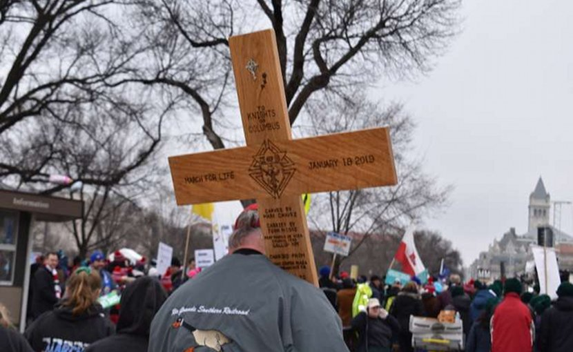 Marchers at the 2019 March for Life, Jan. 18 in Washington, DC. Credit: Christine Rousselle/CNA