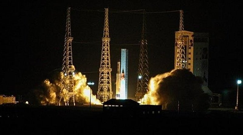 Iran launches the Payam satellite into space on January 15, 2018. (Photo by Tasnim)