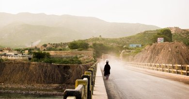 A poor woman in Pakistan.