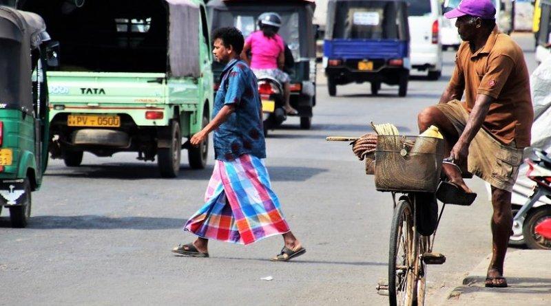 Street scene in Sri Lanka