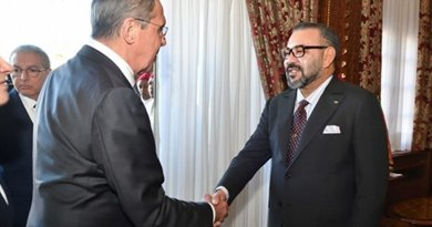 Morocco's King Mohammed VI receives Russian Foreign Minister Serguei Lavrov