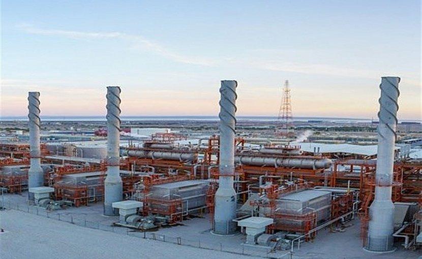 Iran's South Pars gas field. Photo Credit: Tasnim News Agency