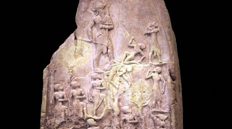 King Naram-Sin of Akkad, grandson of Sargon, leading his army to victory. Rama / Louvre, CC BY-SA