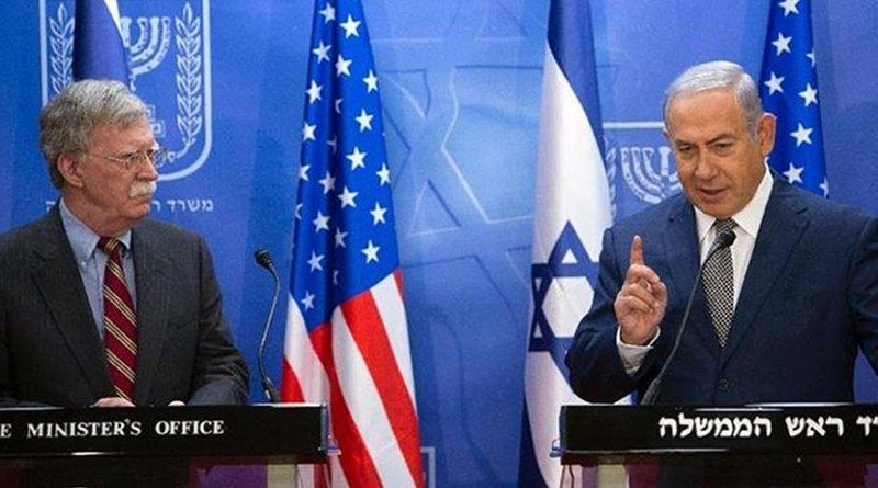 Israel's Benjamin Netanyahu and US' John Bolton. Photo Credit: Israel PM Office