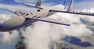Screenshot of Yemeni 'Qasif K-2' strike drone. Photo Credit: Tasnim News Agency.