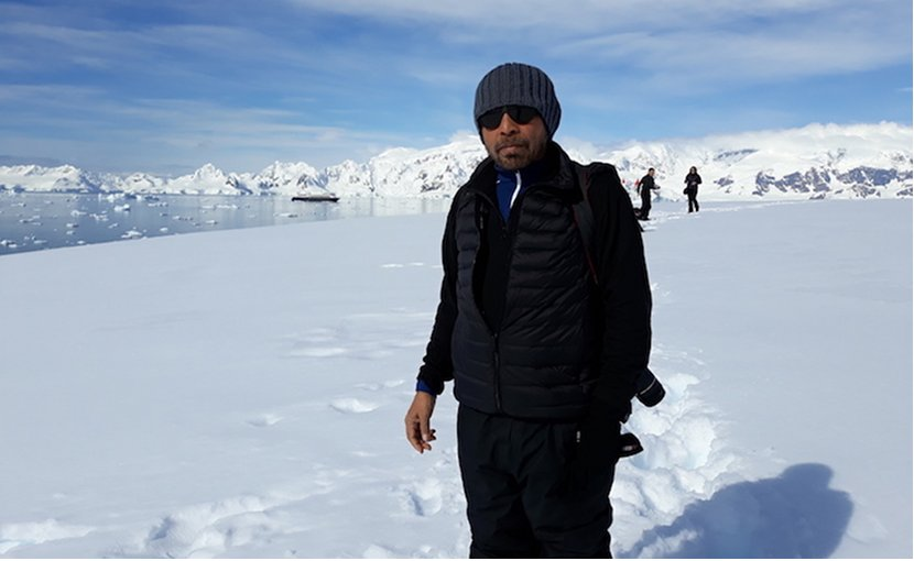 Dr Palitha Kohona in Antarctica