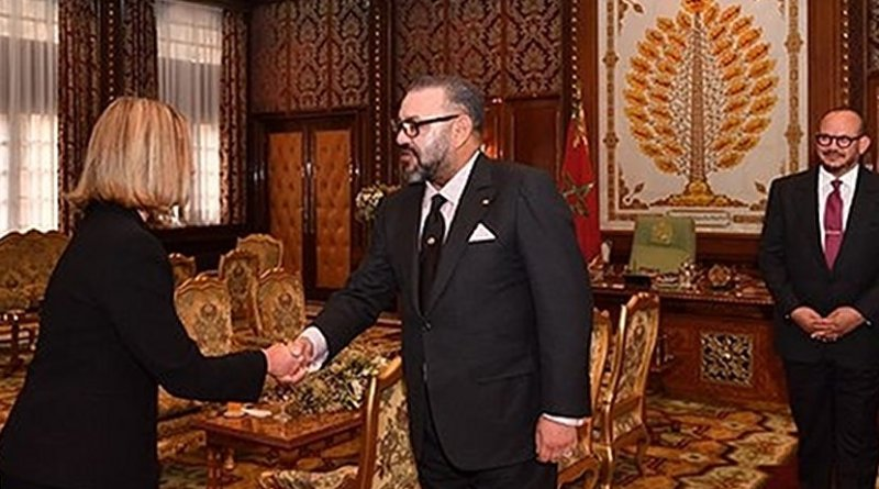 EU Foreign Policy Chief Federica Mogherini and Morocco's King Mohammed VI