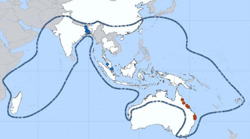 Nipah Virus Distribution Map. Credit: CDC.gov