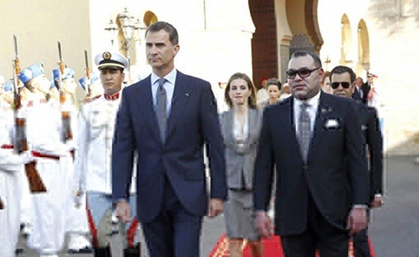Spain's King Don Felipe VI and Morocco's King Mohammed VI