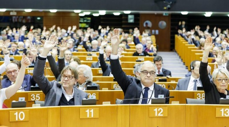 Members of the European Parliament plenary session on the situation in Venezuela. [European Parliament]