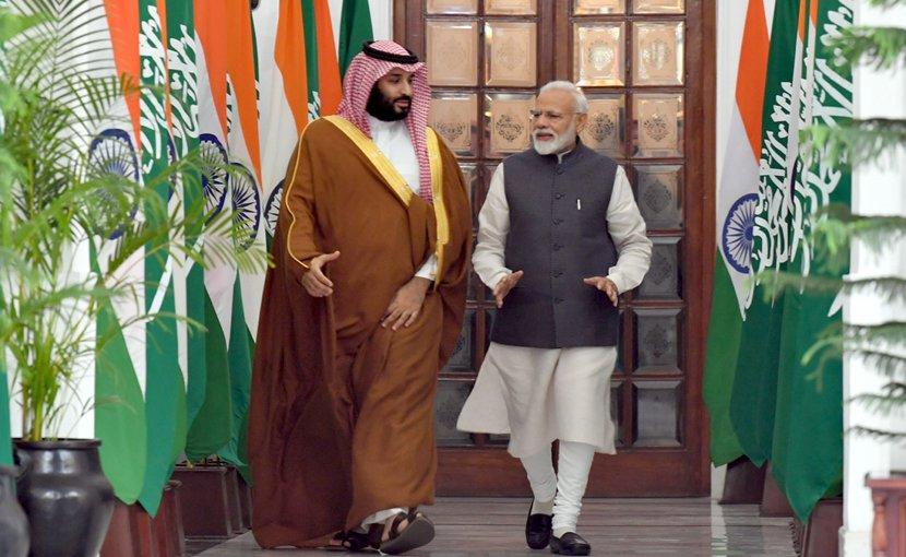he Prime Minister, Shri Narendra Modi with the Crown Prince, Vice President of the Council of Ministers of Defence of the Kingdom of Saudi Arabia, Prince Mohammed Bin Salman Bin Abdulaziz Al-Saud. Photo Credit: India PM Office