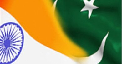 Flags of India and Pakistan