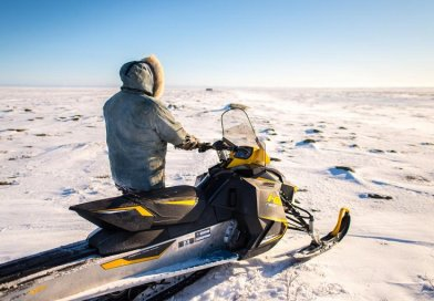 Snowmobile is a common mode of transport in Inuit communities. Temperature influences machine functioning, potential of getting stuck and conditions of ice and snow Credit Dylan Clark, McGill University, Canada