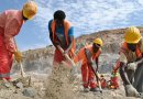 Workers constructing the Grand Ethiopian Renaissance Dam (GERD). Photo Credit: Jacey Fortin, Wikipedia Commons.