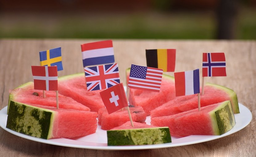 food watermellon flag