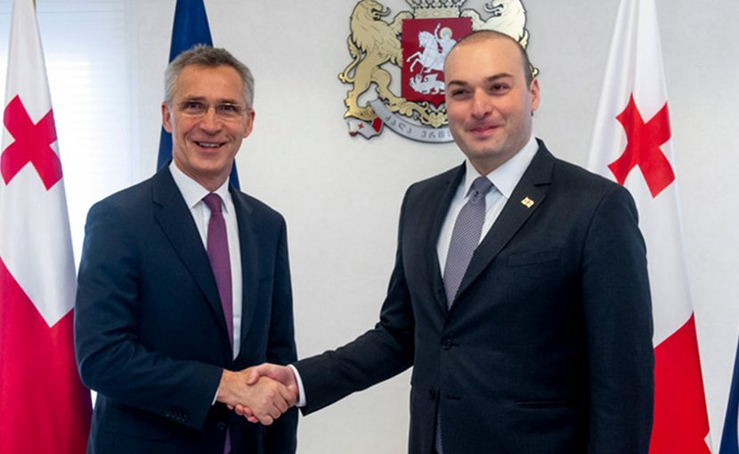 NATO's Jens Stoltenberg and Georgia's Prime Minister Mamuka Bakhtadze. Photo Credit: NATO