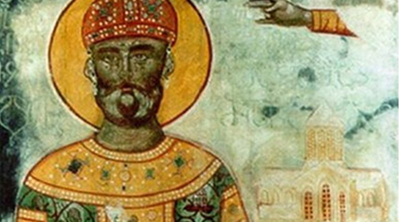 Fresco of King David the Builder. Source: Wikipedia Commons