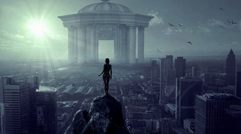 futuristic future babel tower
