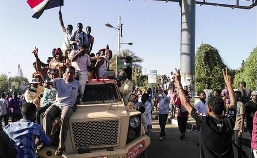 Protests in Sudan. Photo Credit: Tasnim News Agency