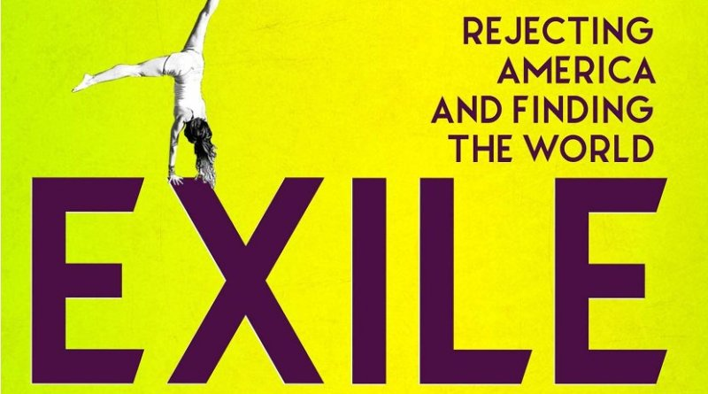 """Detail of Belen Fernandez's book """"Exile: Rejecting America and Finding the World"""""""