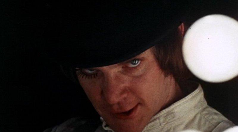 Malcolm McDowell as Alex DeLarge in Stanley Kubrick's 1971 film A Clockwork Orange. Source: Stanley Kubrick - Trailer of A Clockwork Orange (1971), Wikipedia Commons