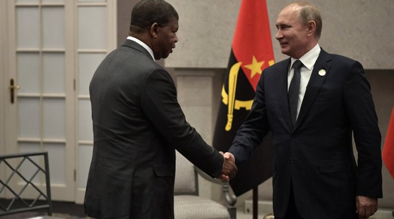 Angola's Joao Manuel Goncalves Lourenco and Russia's Vladimir Putin
