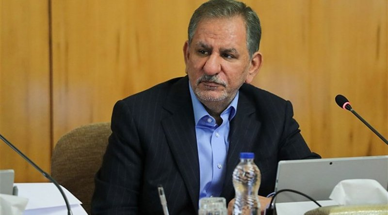 Iran's First Vice-President Eshaq Jahangiri. Photo Credit: Tasnim News Agency