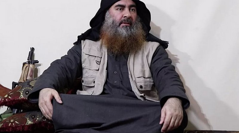 Islamic State leader Abu Bakr al-Baghdadi. Photo Credit: Screenshot from video released by Islamic State's al-Furqan Media