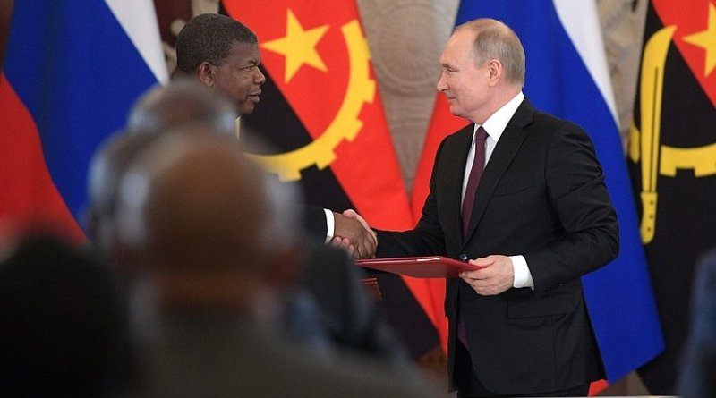 Angola's João Lourenço and Russia's Vladimir Putin. Photo Credit: Kremlin.ru