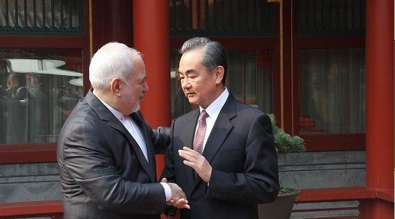 Iranian Foreign Minister Mohammad Javad Zarif and his Chinese counterpart Wang Yi. Photo Credit: Tasnim News Agency