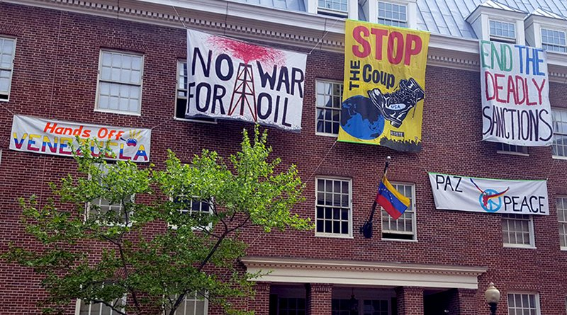 Activists in Venezuela embassy in Washington DC. Photo Credit: popularresistance.org