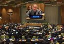 2020 NPT Review Conference Chair Argentine Ambassador Rafael Grossi addressing the third PrepCom. IDN-INPS Collage of photos by Alicia Sanders-Zakre, Arms Control Association.