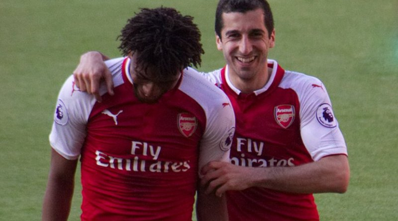 Henrikh Mkhitaryan (right) with Alex Iwobi playing for Arsenal in 2018. Photo Credit: Ronnie Macdonald, Wikimedia Commons
