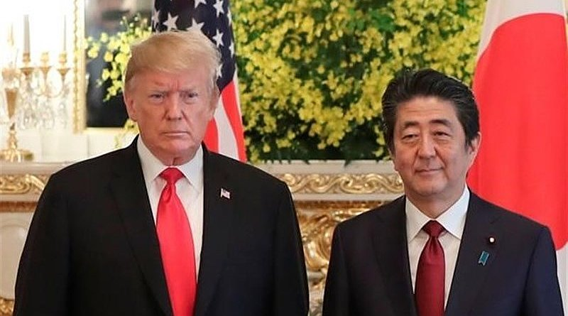 US President Donald Trump and Japanese Prime Minister Shinzo Abe. Photo Credit: Tasnim News Agency