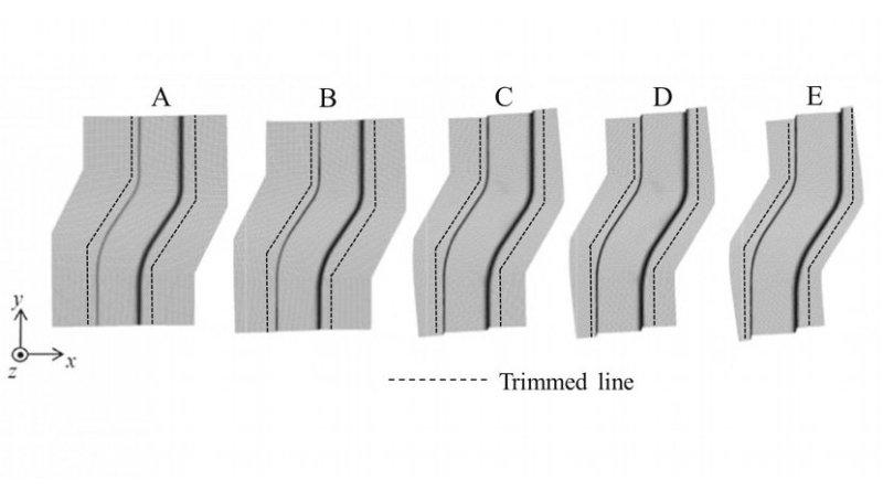 Forming process using optimal blank shape Credit Kanazawa University