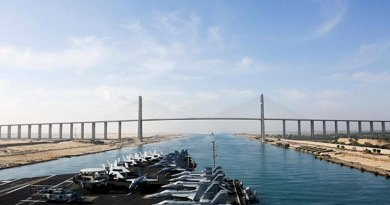 USS Abraham Lincoln transits Suez Canal. Photo Credit: US Navy