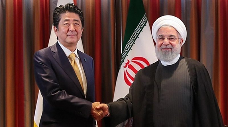 Japanese Prime Minister Shinzo Abe meets Iran's President Hassan Rouhani in Tehran. Photo Credit: Fars News Agency