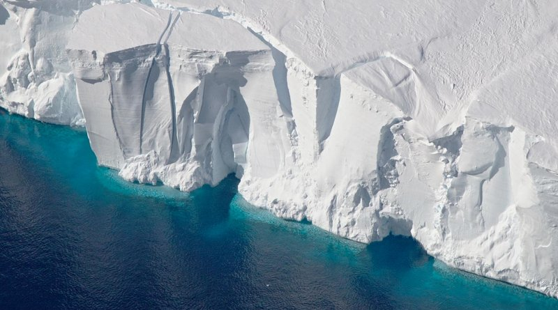 The Getz Ice Shelf helps keep the West Antarctic Ice Sheet stable. Credit NASA/Jeremy Harbeck
