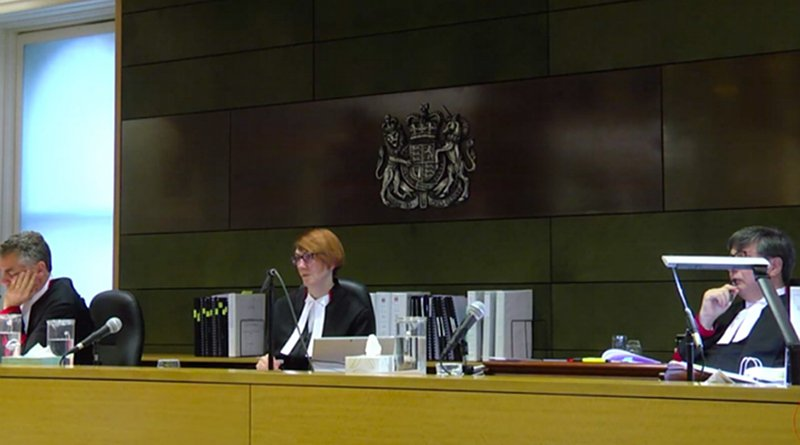 Screenshot of the live stream of the appeal hearing at the Supreme Court of Victoria.