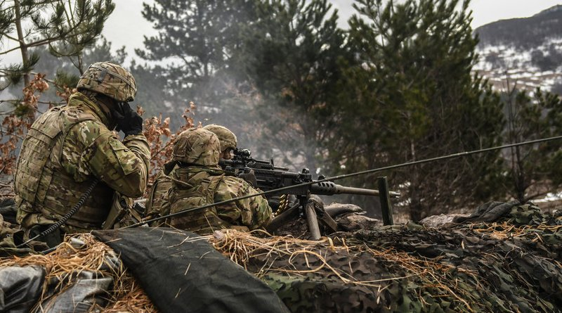 Army Rapid Capabilities Office and Project Manager for Electronic Warfare & Cyber teamed with 173rd Airborne Brigade, 2nd Cavalry Regiment, and other receiving units while participating in Joint Warfighting Assessment 18, Grafenwoehr, Germany, April 2018 (U.S. Army)