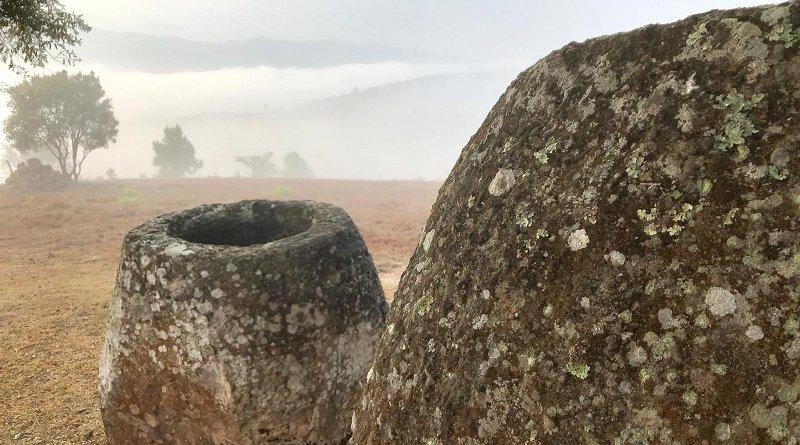 Sandstone megalithic jar Xiengkhouang Province, Laos. Credit Image: ANU